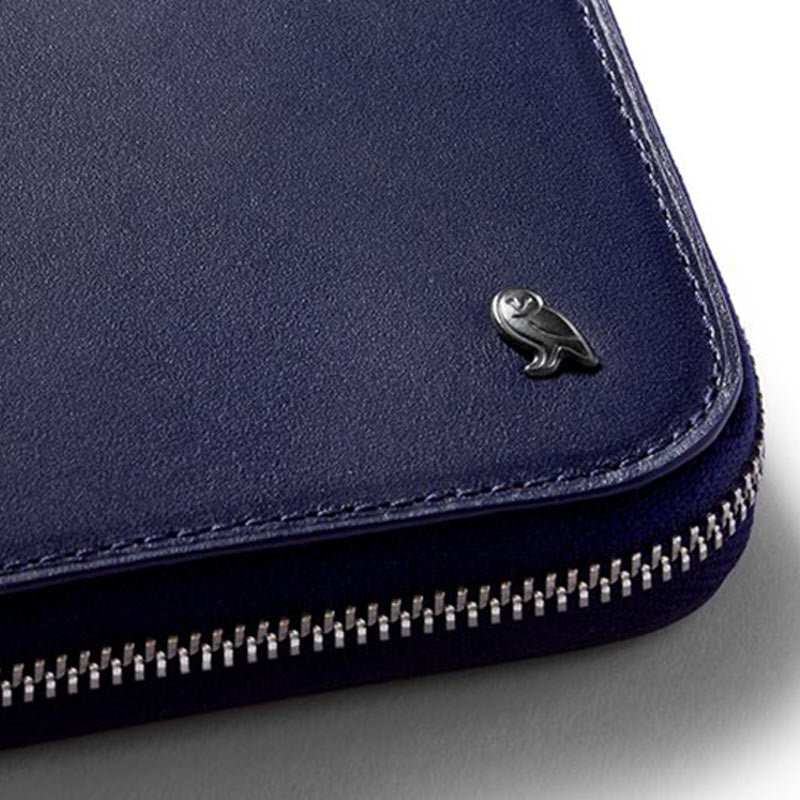 Buy Online Bellroy Zip Wallet - Navy Detail | Benny's Boardroom