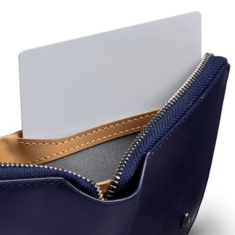 Buy Online Bellroy Zip Wallet - Navy Hidden Card Storage | Benny's Boardroom