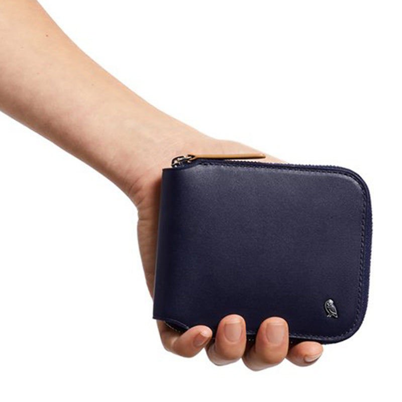 Buy Online Bellroy Zip Wallet - Navy In Hand | Benny's Boardroom