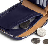 Buy Online Bellroy Zip Wallet - Navy Magnetic Coin Storage | Benny's Boardroom
