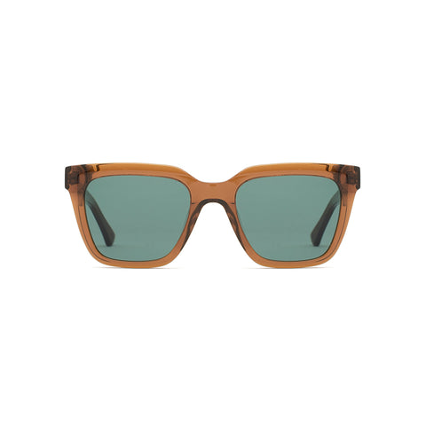 Buy Online Epokhe Valentine Sunglasses - Tobacco Polished/Green Lens | Benny's Boardroom
