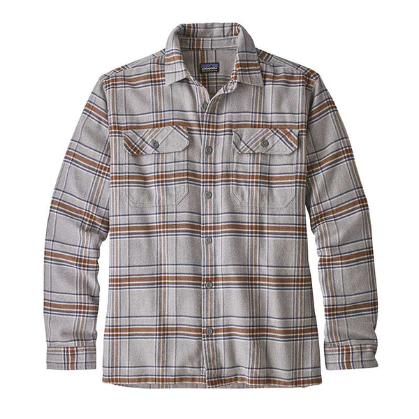 Buy Online Patagonia Men's L/S Fjord Flannel Shirt - Activist/Feather Grey | Benny's Boardroom
