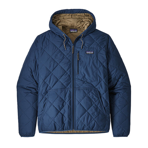 Buy Patagonia Men's Diamond Quilted Bomber Hoody Online - Stone Blue | Benny's Boardroom