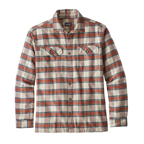 Buy Patagonia Men's L/S Fjord Flannel Shirt Online - Migration Plaid/Light Sesame | Benny's Boardroom