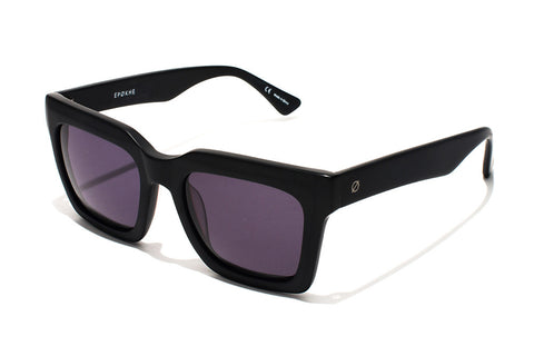 Buy Epokhe Boris Sunglasses - Black Gloss/Black Lens | Benny's Boardroom