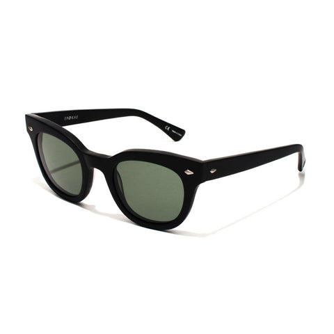 Buy Epokhe Dylan Sunglasses - Black Matte/Green Lens | Benny's Boardroom