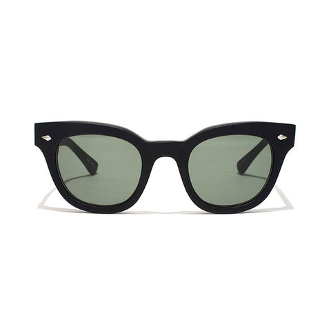 Shop Epokhe Dylan Sunglasses - Black Matte/Green Lens | Benny's Boardroom