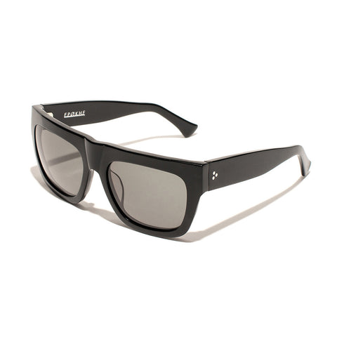 Buy Epokhe Nopa Sunglasses - Black Gloss/Gold/Black Lens | Benny's Boardroom