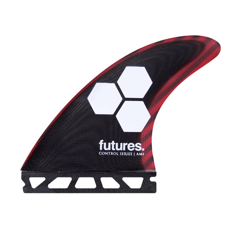 Shop Futures Fins AM1 Control Series MEDIUM Thruster Fins - Black/Cherry | Benny's Boardroom