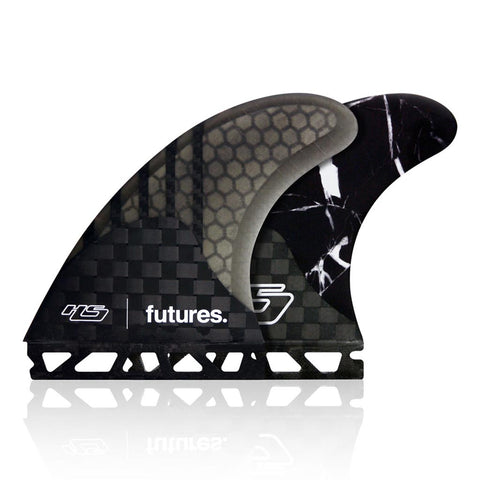 Shop Futures Fins V2 Haydenshapes Gen Series HS1 Large Thrusters - Black Marble Online | Benny's Boardroom