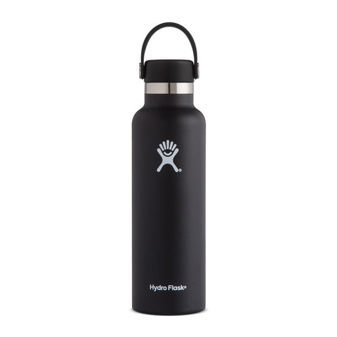 Shop Hydro Flask 620ml Reusable Water Bottle - Black | Benny's Boardroom