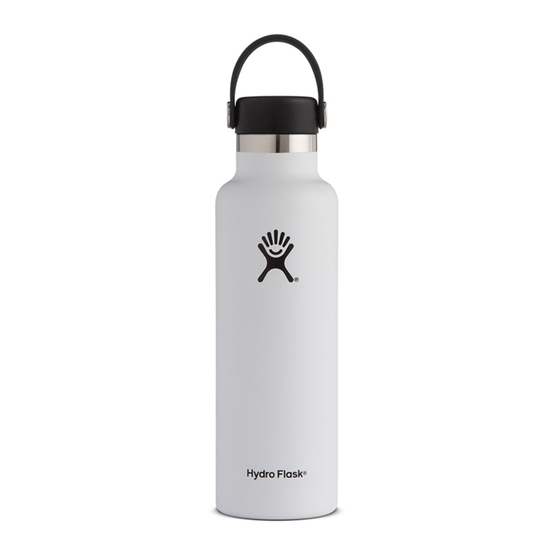 Shop Hydro Flask 620ml Reusable Water Bottle - White | Benny's Boardroom