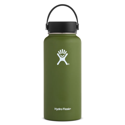 Shop Hydro Flask 950ml Wide Mouth Reusable Water Bottle - Olive | Benny's Boardroom