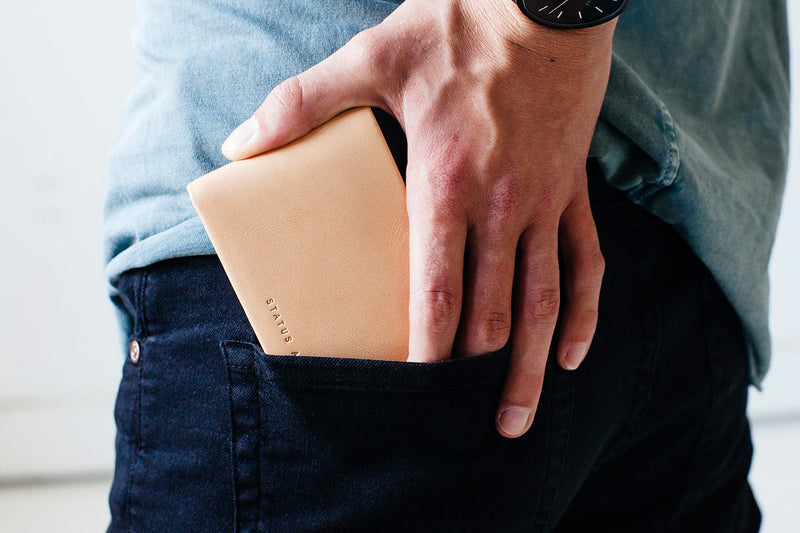 Shop Online Tan - Status Anxiety Jonah Wallet Online | Benny's Boardroom