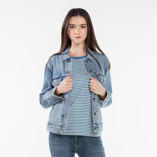 Buy Levi's Women's Ex-Boyfriend Trucker Jacket - Indigo Anthem | Benny's Boardroom
