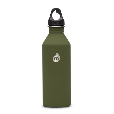 Shop Mizu M8 Steel Water Bottle - Soft Touch Army Green 800ml | Benny's Boardroom