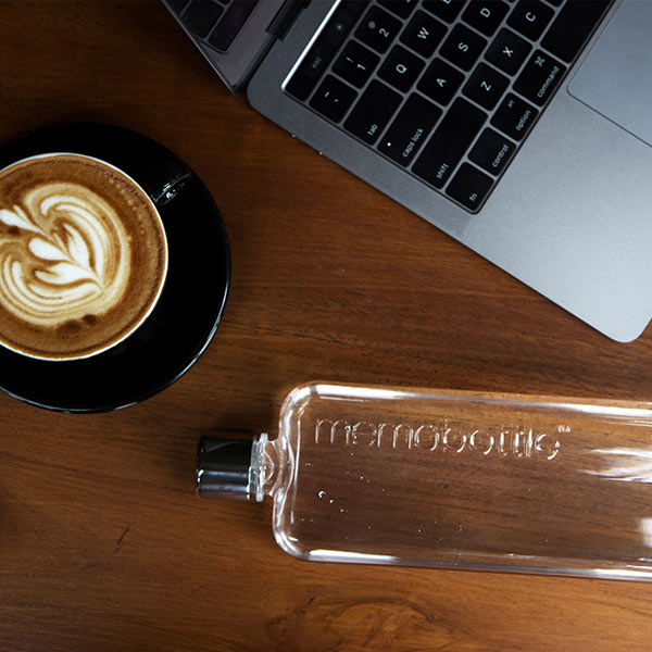 Shop Memobottle Slim Reusable 450ml Water Bottle Online | Benny's Boardroom