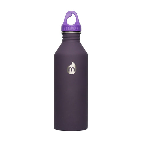 Shop Mizu M8 Steel Water Bottle - Soft Touch Purple 800ml | Benny's Boardroom
