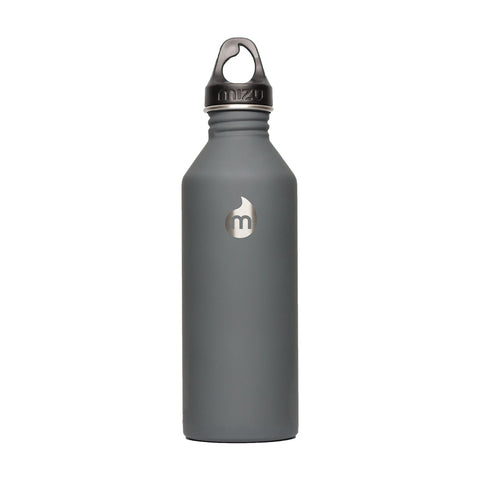 Shop Mizu M8 Steel Water Bottle - Soft Touch Grey 800ml | Benny's Boardroom