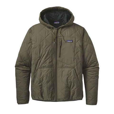 Shop Patagonia Men's Diamond Quilted Bomber Hoody - Industrial Green | Benny's Boardroom