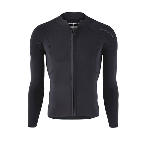 Shop Patagonia Mens R1 Lite Yulex Front Zip L/S Top - Black