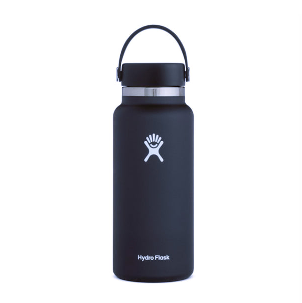 Shop Hydro Flask 950ml Wide Mouth Reusable Water Bottle 2.0 - Black Online Australia | Benny's Boardroom