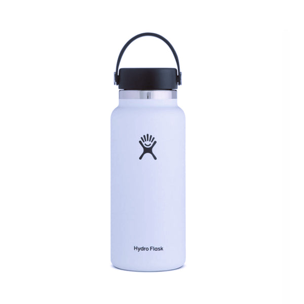 Shop Online Hydro Flask 950ml Wide Mouth Reusable Water Bottle 2.0 - White Australia | Benny's Boardroom