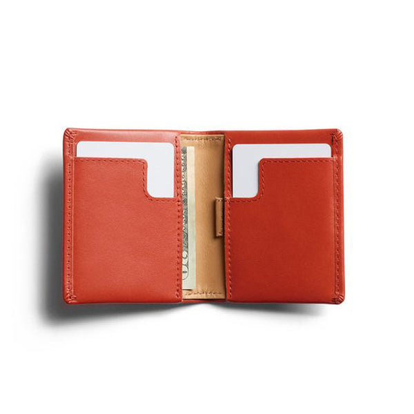 Shop Bellroy Slim Sleeve Leather Wallet - Tangelo Open | Benny's Boardroom