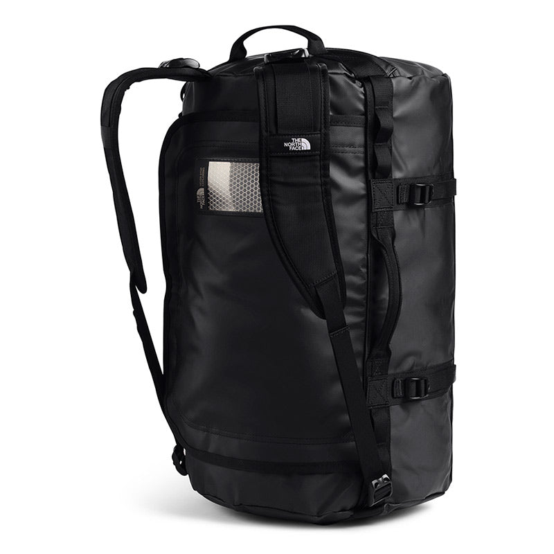 Shop The North Face Base Camp Duffel Bag 50L (S) - TNF Black/TNF White Shoulder Straps | Benny's Boardroom