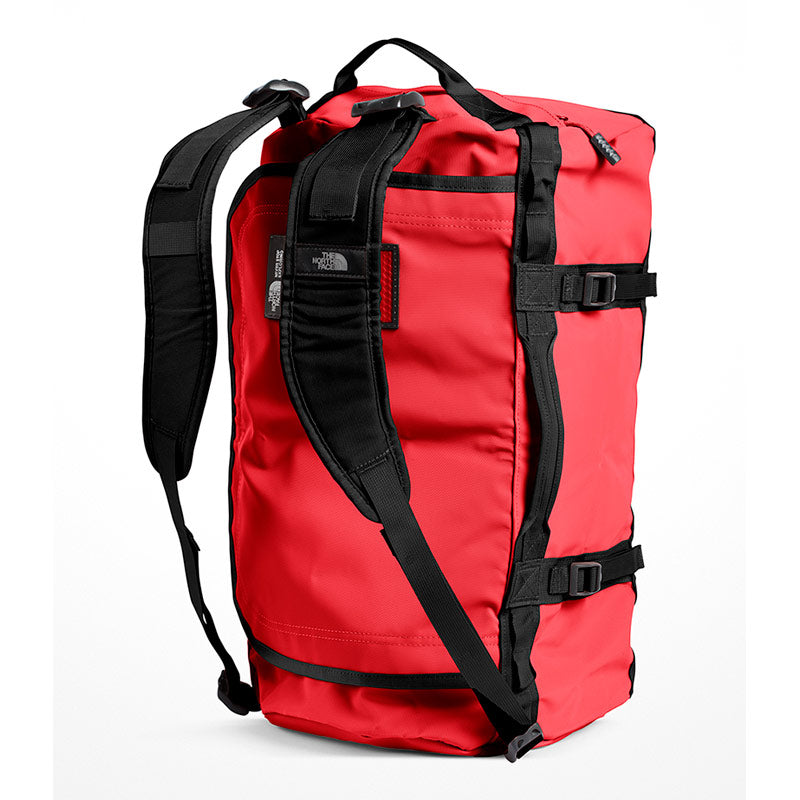 Shop The North Face Base Camp Duffel Bag 50L (S) - TNF Red/TNF Black Shoulder Straps | Benny's Boardroom