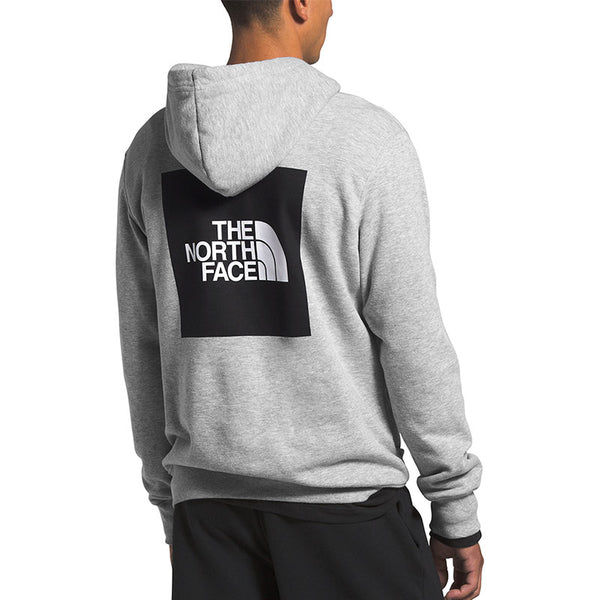 Shop The North Face Men's Box Pullover Hoody - TNF Light Grey Heather Back | Benny's Boardroom