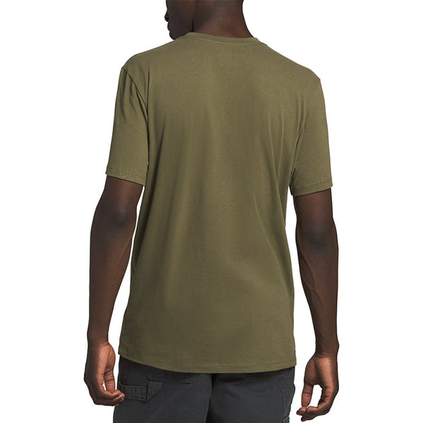 Buy The North Face Men's Half Dome Tee Shirt - Burnt Olive Green Back | Benny's Boardroom