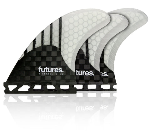 Shop Futures Fins F6 Generation (M) 5 Fin Set - Black/Clear Online | Benny's Boardroom
