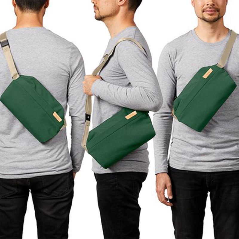 Shop Online Bellroy Sling Bag 7L - Forest Three Ways To Wear | Benny's Boardroom