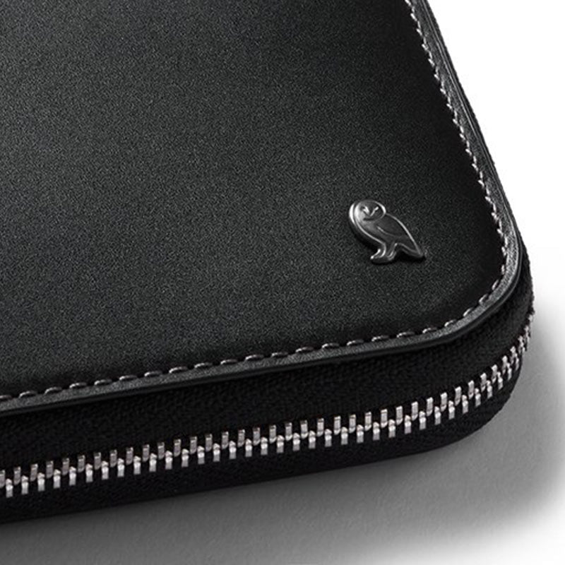 Shop Online Bellroy Zip Wallet - Black Detail | Benny's Boardroom