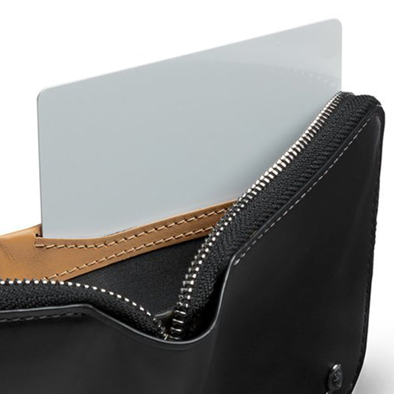 Shop Online Bellroy Zip Wallet - Black Hidden Storage | Benny's Boardroom