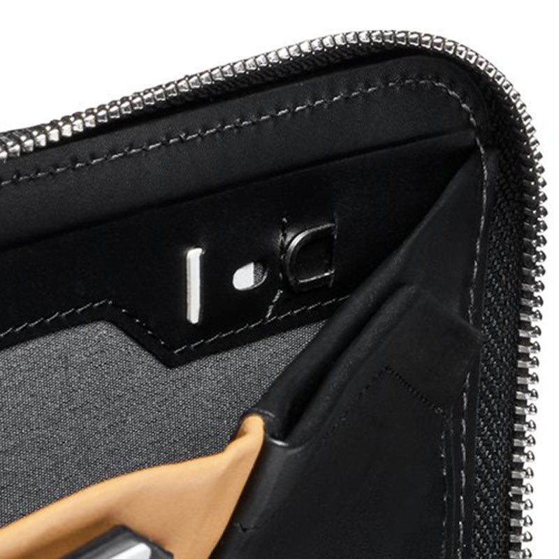 Shop Online Bellroy Zip Wallet - Black SIM Card Storage | Benny's Boardroom
