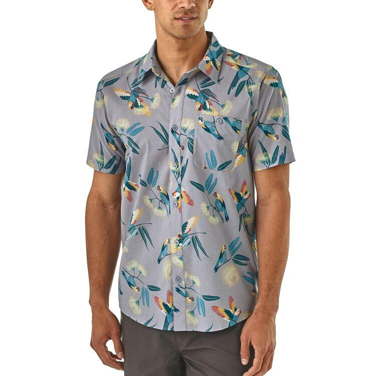 Shop Online Patagonia Men's Go To Shirt - Parrots/Ghost Purple 52691 PAGH | Benny's Boardroom