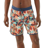 Shop Online Patagonia Men's Scallop Hem Stretch Wavefarer Boardshorts 18 in. - 86731 Lifestyle Front | Benny's Boardroom