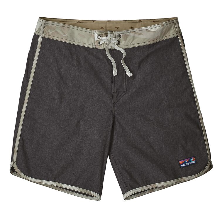 Shop Online Patagonia Men's Scallop Hem Stretch Wavefarer Boardshorts 18 in. - Ink Black 86731 INBK | Benny's Boardroom