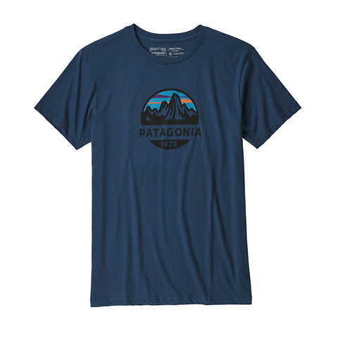Shop Patagonia Men's Fitz Roy Scope Organic Tee Online - Stone Blue | Benny's Boardroom