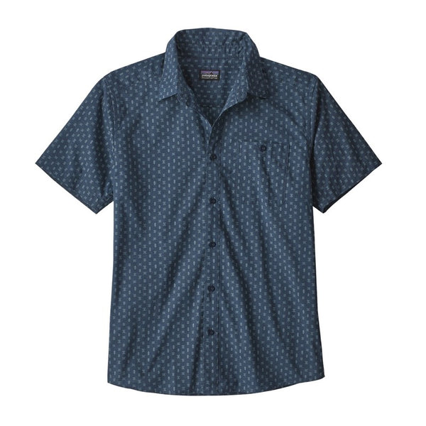 Buy Patagonia Men's Go To Shirt - Space Micro/Stone Blue Online | Benny's Boardroom