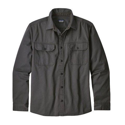 Shop Patagonia Men's LS Four Canyons Twill Shirt Online - Forge Grey | Benny's Boardroom
