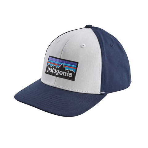 Shop Patagonia P-6 Logo Roger That Hat Online - White/Classic Navy | Benny's Boardroom.jpg