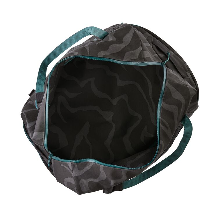Shop Patagonia Planing Wet/Dry Duffel Bag 55L Online - Tiger Tracks Camo Open | Benny's Boardroom