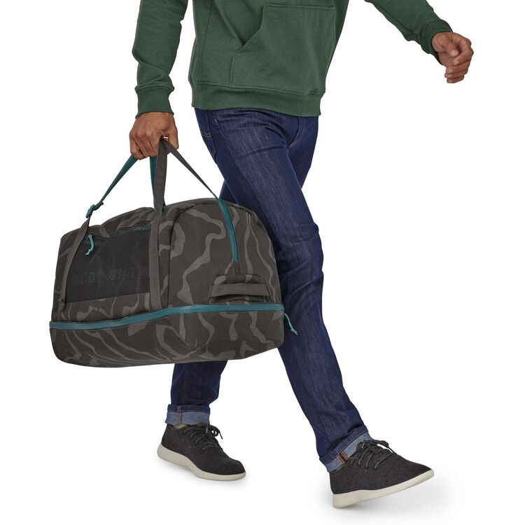 Shop Patagonia Planing Wet/Dry Duffel Bag 55L Online - Tiger Tracks Camo Lifestyle | Benny's Boardroom