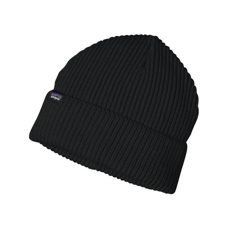 Shop Patagonia Fishermans Rolled Beanie - Black | Benny's Boardroom