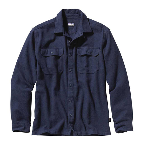 Shop Patagonia Men's L/S Fjord Flannel Shirt Online - Navy Blue | Benny's Boardroom