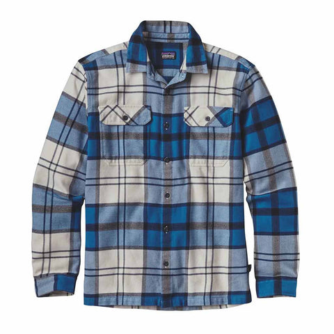 Shop Patagonia Mens Long Sleeve Fjord Flannel Shirt - Sugar Pine/Bandana Blue | Benny's Boardroom