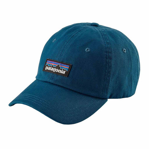Shop Patagonia P-6 Label Trad Cap  Big Sur Blue | Benny's Boardroom